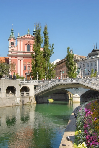 About 75 percent of Ljubljana is made up of green space.