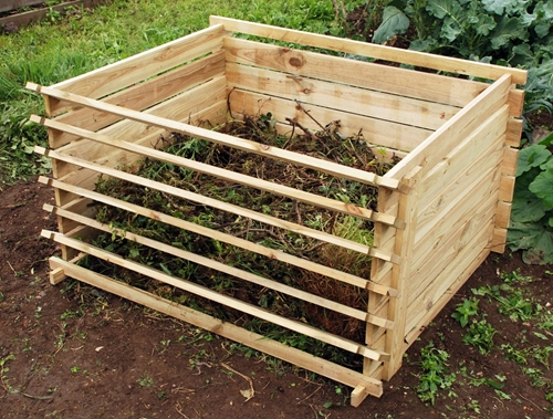 Composting is one option of going green.