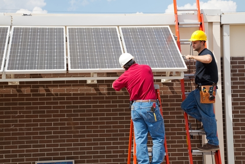 Solar panels are a key investment in the going green effort.