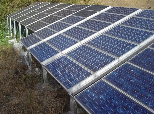 Solar panels on houses can save homeowners 50 percent on their electricity bill each year.